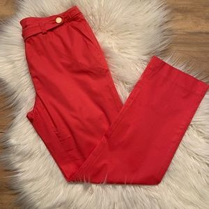 Tory Burch SZ 6 Coral cropped Pants